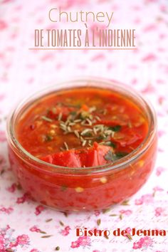 Chutney de tomates à