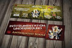 Intsrumentation Underground Ticket Design Ticket Design