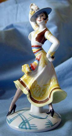 Art Deco Oldest Volkstedt Figurine of Spanish Dancer.