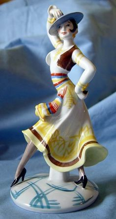 Art Deco Oldest Volkstedt Figurine of Spanish Dancer.