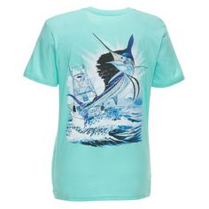 Guy Harvey Women's Sailfish Boat T-shirt