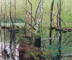 Stille tjern av Odd Skullerud Photo Tree, Flora And Fauna, Landscape Art, Paintings, Colours, Ponds, Trees, Inspirational, Beautiful