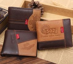 7.14$ (More info here: http://www.daitingtoday.com/fashion-famous-brand-genuine-leather-men-wallets-with-coin-pocket-short-size-coin-purse-vertical-card-holder-wallet ) Fashion famous brand genuine leather men wallets with coin pocket short size coin purse vertical card holder wallet for just 7.14$