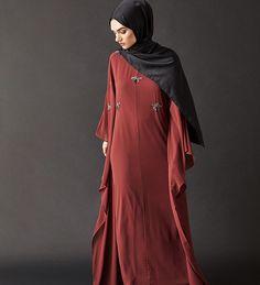 Rust Embellished Kaftan - $113.99 : Inayah, Islamic Clothing & Fashion, Abayas, Jilbabs, Hijabs, Jalabiyas & Hijab Pins Eid Outfits, Modest Outfits, Fashion Outfits, Abaya Fashion, Modest Fashion, Hijab Pins, Islamic Clothing, Modest Clothing, Abayas