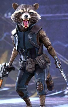 Guardians of the Galaxy Vol 2 Rocket Raccoon Leather Vest...: gotta see if I can DIY this costume for baby P!