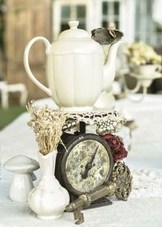 Shabby Chic Vintage Alice in Wonderland Tea Party. Image copyright Jonie Jones Photography
