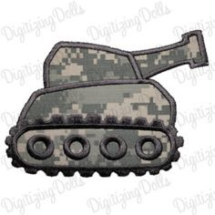 Digitizing Dolls Tank Machine Embroidery Applique Design 4x4 5x7 6x10 Military Army INSTANT DOWNLOAD