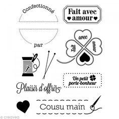 Mini tampon transparent Avec amour - Planche 7 x 9 cm - Photo n°1