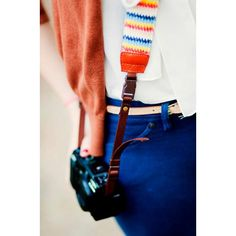 Neoprene backed DSLR camera strap by !mo - Cheerful