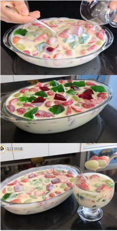 Cake Recipes, Dessert Recipes, Cream Bowls, Parfait Recipes, Cooking Recipes, Healthy Recipes, Food Design, Food Cakes, I Foods