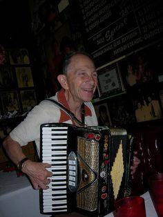 Gordy the accordian player at Battista's Hole in the Wall (Italian restuarant)     children are headed back in School  and Everyone is back to work That Wonder brains session could be fueled by Dinner DELIVERED! Want to hea