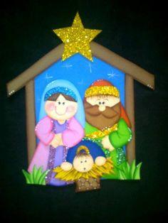 NAVIDAD...CREACIONES ROSA CAMPOS Christmas Sewing Projects, Christmas Crafts For Kids, Xmas Crafts, A Christmas Story, Christmas Art, Christmas Greetings, Christmas Decorations, Christmas Ornaments, Holiday Decor