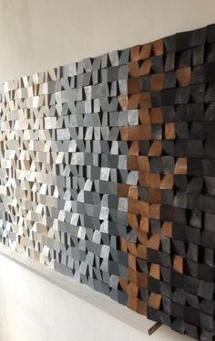 Wood Wall Decor, Wooden Wall Art, Scrap Wood Art, Wooden Wall Design, Wood Artwork, Diy Wand, 3d Wall Art, Art 3d, 3d Wall Murals