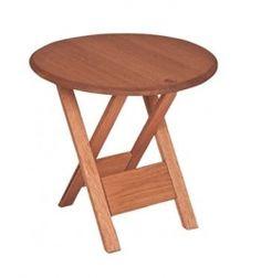 Mesa em Madeira | Ipanema - Alt. 54 cm x Ø 55 cm *mesotte  dobrável