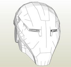 Papercraft template for the flash zoom cowl pepakura for Iron man foam armor templates