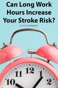 The amount of hours you #work may have an effect on your #stroke risk.
