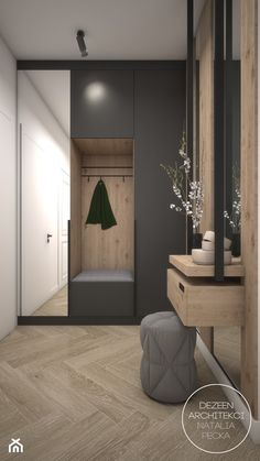 Home Hall Design, Home Interior Design, House Design, Flur Design, Küchen Design, Porch Interior, Halls, Wardrobe Door Designs, Home Entrance Decor