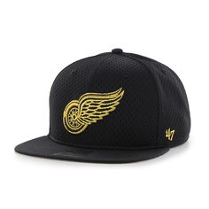 1c571b50 Detroit Red Wings Beat Box Captain Black 47 Brand Adjustable Hat Red Wings  Hat, Detroit