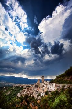 Before the Storm, Italy, Abruzzo, Pacentro #landscape