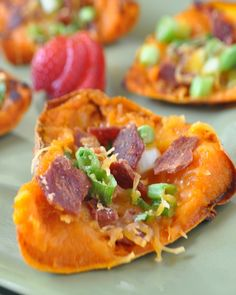 Sweet Potato Skins - Fall Football Favorite pick-up. hollyclegg.com