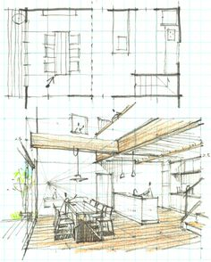 Love Drawing and Design? Finding A Career In Architecture - Drawing On Demand Architecture Sketchbook, Architecture Student, Interior Architecture, Interior Design Sketches, Perspective Drawing, Drawing Projects, Technical Drawing, Designs To Draw, House Design