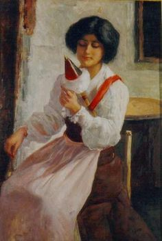 La hilandera, 1884, Giudici, Reynaldo (1853-1921)