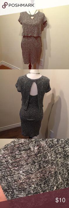 Body con Sweater dress Super cute grey body con sweater dress. Love it so much. Never worn. Papaya Dresses