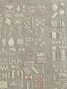 embroidery sampler (closeup) embroidery sampler (closeup),embroidery a sampling of stitches Related posts:Schals mit Kapuze - optimale Maße Schals mit Kapuze - Maße . - Hat knitting patternsHow to Pick the Right Machine Embroidery. Embroidery Sampler, Ribbon Embroidery, Embroidery Art, Cross Stitch Embroidery, Embroidery Patterns, White Embroidery, Sewing Patterns, Textile Texture, Textile Art