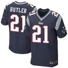 553c9b4ca New England Patriots No.21 Malcolm Butler Blue Elite Jersey Jersey Patriots