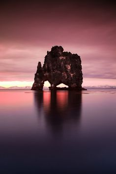 Hvítserkur, North Iceland, is a 15 m-high sea stack just off shore on the eastern side of Vatnsnes. Good seal spotting place at the estuary of the Sigridarstadir lake, south from the stack. - by Arnar Viggósson What A Wonderful World, Beautiful World, Beautiful Images, North Iceland, Jolie Photo, Iceland Travel, Natural Wonders, Amazing Nature, Amazing Photography