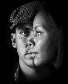 One of the perfect pose and great illustration of black and white Portrait Photography is depicted over here. The half face of the guy along with side face of the girl is looking at its best as it is timed so peculiarly