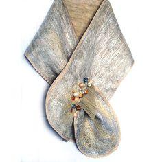 Felted Scarf Shawl Wrap Felting Wool Luxury by Golyandcraft