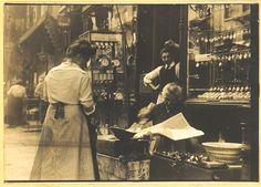 1900 - Yard of tenement - Detroit Publishing Co (NYC Vintage Italian)