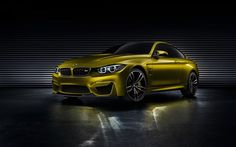 BMW has revealed a concept version of its new 4-series coupé in supercar-baiting M4 guise.
