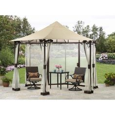 Canopy Gazebo Ridge-Top With Mosquito Net 13' Outdoor Garden Patio Furniture New #1