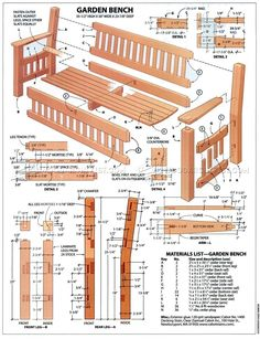 Garden Bench DIY - Outdoor Furniture Plans