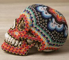 Stunning Beaded Skulls by Our Exquisite Corpse