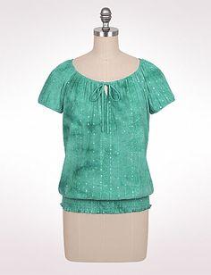 Sequined Tie-Dye Peasant Blouse   Dressbarn -  Got it
