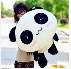 Kawaii Plush Doll Toy Animal Giant Panda Pillow Stuffed Bolster Gift 55CM HOT #Handmade