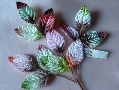 Vintage Velvet Millinery Leaves in Multicolor by MaryNotMartha, $5.50