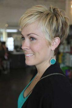 thin hair short haircut, thin short layers underneath - Google Search