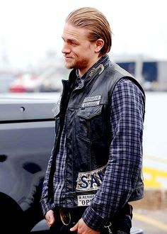 Charlie Hunnam as Jax Teller in Sons of Anarchy, 2014.