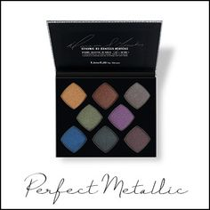 Perfect Eyeshadow Palettes by Danessa Myricks Metallic Eyeshadow Palette, High Pigment Eyeshadow, Eyeshadow For Blue Eyes, Eyeshadows, Eye Makeup Art, Happy Skin, How To Apply Makeup, Natural Cosmetics, Skin Treatments