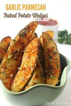 Garlic parmesean potato wedges