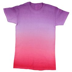 Cotton Candy Ombré Dye T-shirt - Makaila likes this tie-dyed shirt How To Tie Dye, How To Dye Fabric, Dyeing Fabric, Dye Shirt, Tie Dyed, Cotton Candy, Sewing Hacks, Cool T Shirts, Mens Tops