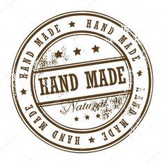 Stamp Hand Made — Stock Vector © _fla # Stencil Diy, Stencils, Eraser Stamp, Sewing Machine Repair, Foto Transfer, Decoupage Vintage, Custom Stamps, Candy Shop, Digital Stamps