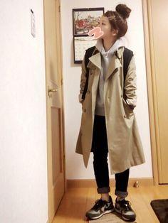 na-po│BEAMS BOYのトレンチコートコーディネート-WEAR