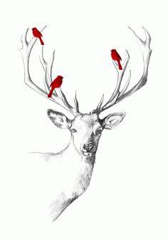 Deer Pencil Draft