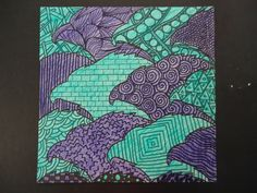 Mini Matisse: 8th Grade-super fun tessalations