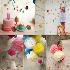 Add a splash of color using garland, bunting & pom pom to any kids room or kids party...the look is fabulous too :)